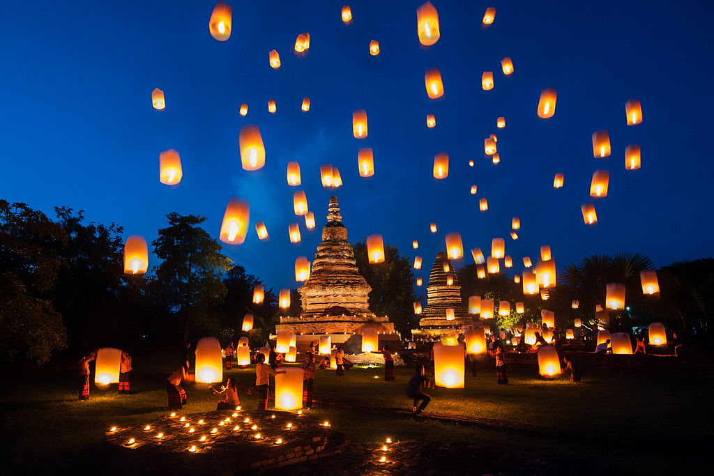 Image result for sky lantern festival in thailand