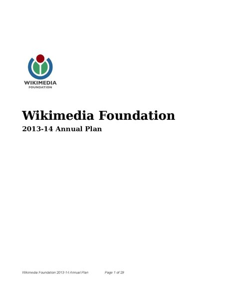 File:Wikimedia Foundation 2013-2014 Annual Plan.pdf