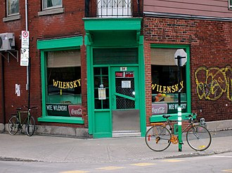 Mile End, Montreal - Wilensky's, May 2007.