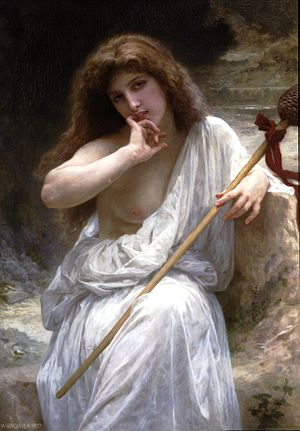 Thyrsus - Image: William Adolphe Bouguereau (1825 1905) Mailice (1899)