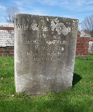 1920 in poetry - Grave of William Dean Howells, buried in Cambridge, Massachusetts