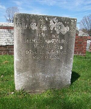 1920 in poetry - Grave of William Dean Howells, buried in Cambridge, Massachusetts