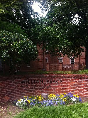 William Peace University - Entrance to William Peace University located in Raleigh NC
