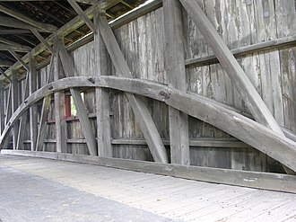 Willow Hill Covered Bridge - Image: Willow Hill Covered Bridge Burr Arch Truss 3264px