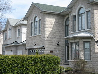 Willowdale, Toronto - Large two-storey luxury homes emerged in the neighbourhood in the early-1990s.