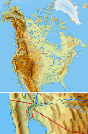 Cocopah - Cocopah traditional territory on the Colorado River and the Gulf of California