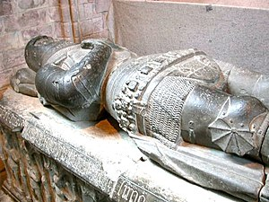 Earl of Buchan - Sarcophagus-effigy of Alexander Stewart, Earl of Buchan, at Dunkeld Cathedral, where he was buried.