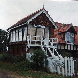 Wolferton railway station - Wolferton signal box in days when the museum was still open
