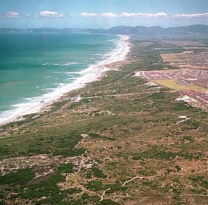 Wolfgat Nature Reserve - Image: Wolfgat Nature Reserve from the air Cape Town SA