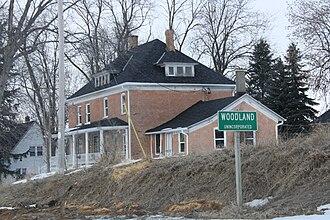 Woodland, Dodge County, Wisconsin - Image: Woodland Wisconsin Sign