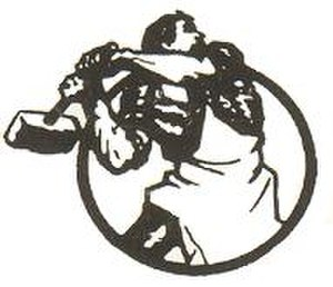 International Communist Current - ICC logo derived from original artwork by Boris Kustodiev, as first used in the Communist International's review (1919).