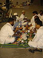 Worshippers eat at the Haram - Flickr - Al Jazeera English.jpg