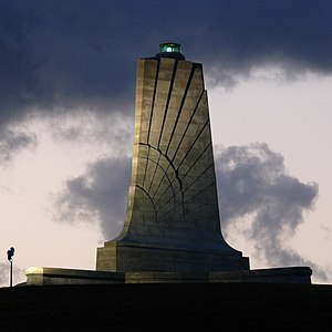 Wright Brothers National Memorial - Monument at Wright Brothers National Memorial.