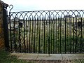 Wrought iron gates at entrance to St Columba's Church - geograph.org.uk - 1525535.jpg