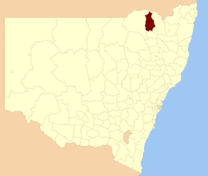 Yallaroi Shire - Location within New South Wales