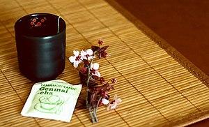 "Genmaicha (""brown rice tea"", Japanes..."