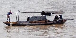 Sampan type of boat