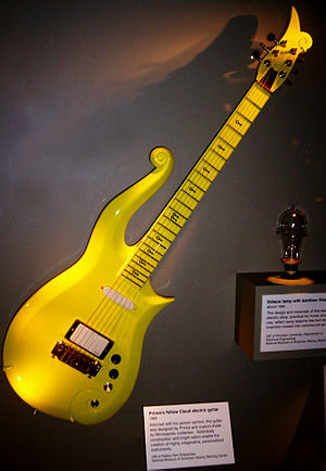 Prince's guitar displayed at the Smithsonian