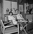 Yitzhak Ben Zvi, de tweede president van Israel van 1952 tot 1963, en zijn echtg, Bestanddeelnr 255-4232.jpg