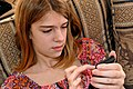 Young girl Using Her Phone.jpg
