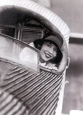 Yva Ramona in the little flying machine 1929.jpg
