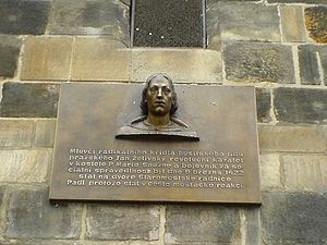 Jan Želivský - Jan Želivský - memorial plaque, Old Town, Prague
