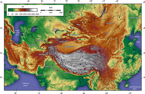South Central Siberia - Topographic map of Central Asia. The area in question is in between the Altai region and Novosibirsk. Click map to view more detail.