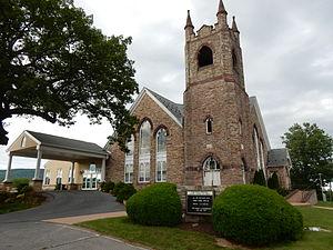 Strausstown, Pennsylvania - Zion Blue Mountain Church in Strausstown.