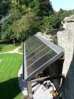 Capteur de chauffage solaire, toit de terrasse.