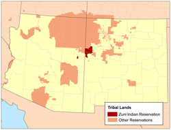 Pueblos New Mexico Map.Zuni Indian Reservation Wikipedia