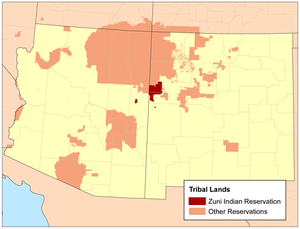 Zuni Indian Reservation - Image: Zuni I Rmap