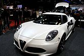 """14 - ITALIAN Supercar - Alfa Romeo 4C white coupe at the 2014 New York International Auto Show - handmade exotic sports car Carbon fibre.jpg"