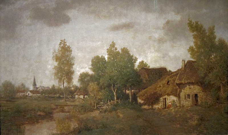 File:'Village in Berry' by Théodore Rousseau, Cincinnati Art Museum.JPG