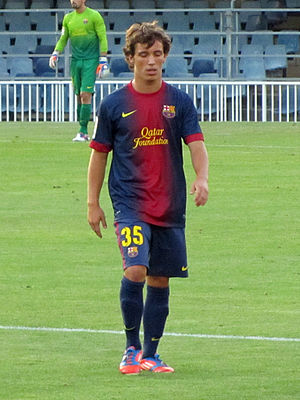 Álex Grimaldo - Grimaldo with Barcelona B in 2012