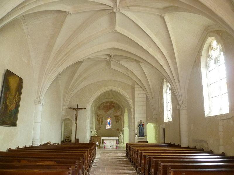 Église Notre-Dame de Broc, nef et chœur