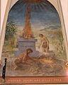Église Saint-Nicolas de L'Hôpital, le sacrifice de Caïn et Abel (fresque).jpg