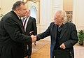 Συνάντηση Αντιπροέδρου της Κυβέρνησης και ΥΠΕΞ Ευ. Βενιζέλου με τον βουλευτή Επικρατείας του ΣΥΡΙΖΑ Μ. Γλέζο (12945997075).jpg