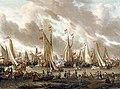 Абрахам Сторк - Показательный бой на реке Эй в честь Петра I 1 сентября 1697 года.jpg