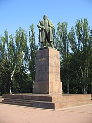 Statue of Lenin in Mykolaiv