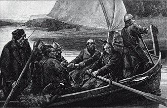 Ushkuiniks - Ushkuiniks, Novgorodian free warriors, painting in 19th century by Savely Zeydenberg.
