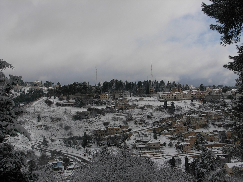 שכונת כנען (צפת) בשלג
