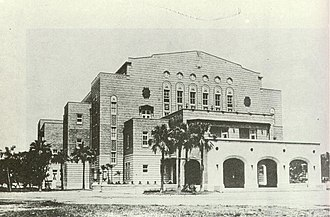 Ide Kaoru - Taipei Zhongshan Hall, originally Taipei City Public Auditorium, as it appeared in 1940.