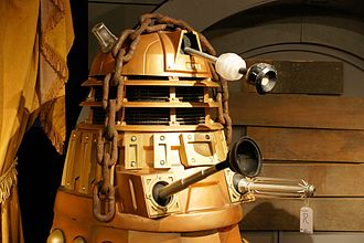 Asylum of the Daleks - The Dalek holding Oswin, on display at the Doctor Who Experience