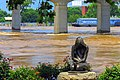 02 June 2019 Flooding of Arkansas River in River Market District of Little Rock Arkansas.jpg