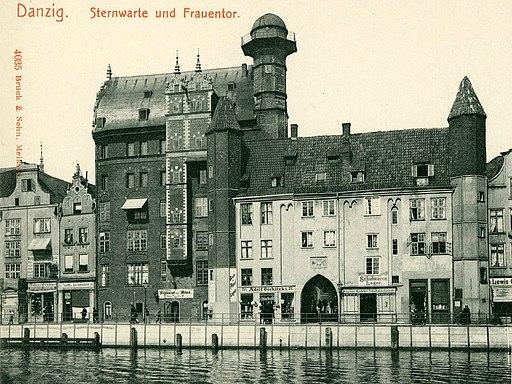 04035-Danzig 1903-Sternwarte mit Frauentor-Brück & Sohn Kunstverlag