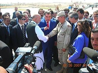 Tajik–Afghan bridge at Panji Poyon - Opening Ceremony of Afghan-Tajik Bridge