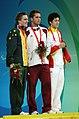 070908 - Men's S9 100m butterfly medallists - 3b - crop.jpg