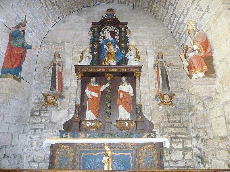 File:074 Notre-Dame des Carmes Autel et retable de la chapelle Saint-Jacques.JPG