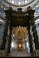 0 Baldaquin et chœur de Gian Lorenzo Bernini - Basilique St-Pierre - Vatican (1).JPG