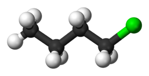 1-Chlorobutane - Image: 1 chlorobutane 3D balls